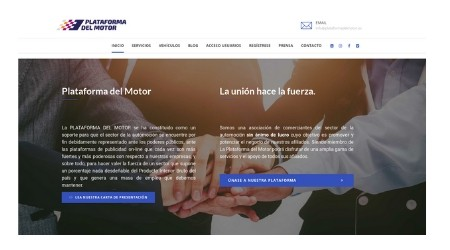 Plataforma del Motor, el nuevo portal online de compraventa de coches.