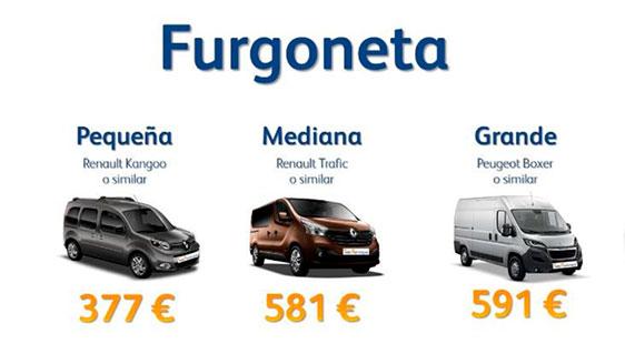 Renting flexible Furgoneta